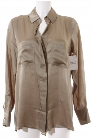 Marc Aurel Langarm-Bluse khaki Glanz-Optik