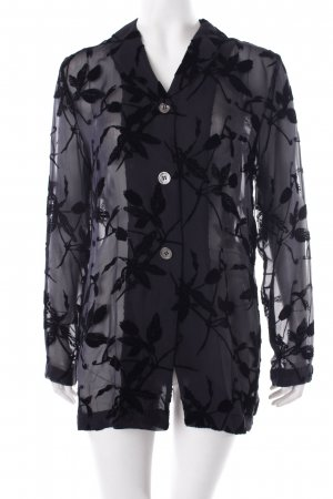 Marc Aurel Langarm-Bluse schwarz florales Muster Romantik-Look
