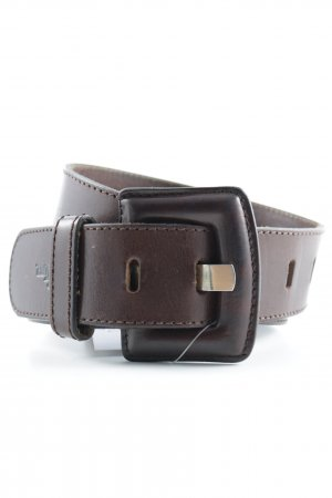 Marc Aurel Leather Belt black brown simple style