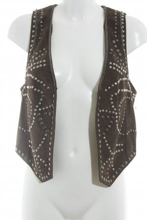 Marc Aurel Leather Vest dark brown biker look