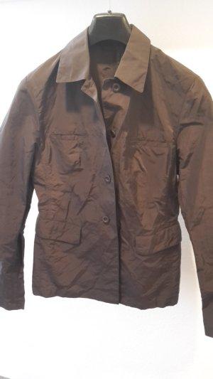 Marc Aurel Veste chemisier brun foncé tissu mixte