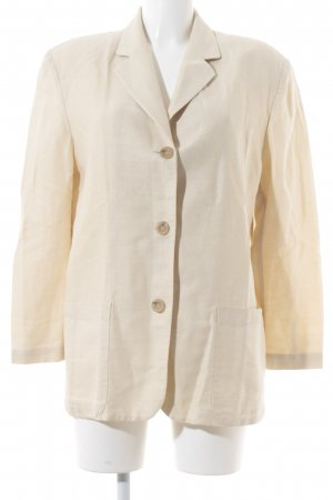 Marc Aurel Long-Blazer beige Boyfriend-Look