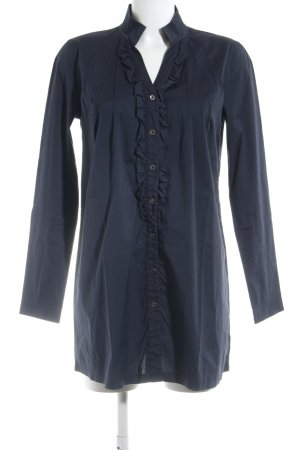 Marc Aurel Long-Bluse dunkelblau Business-Look