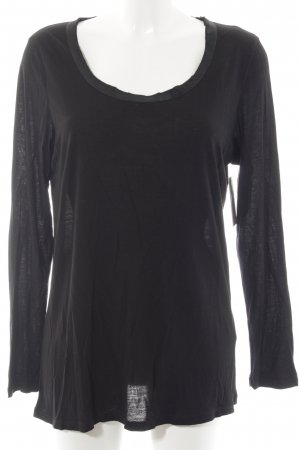 Marc Aurel Longshirt schwarz Casual-Look