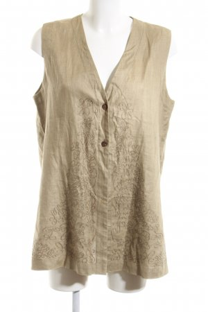Marc Aurel Long Knitted Vest nude business style