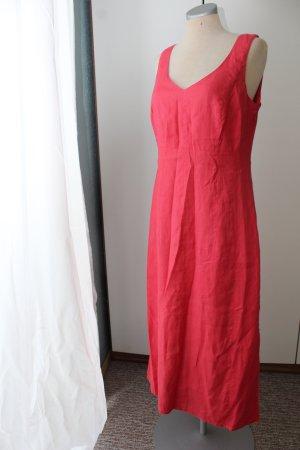 Marc Aurel Midikleid koralle Sommerkleid Kleid lang Gr. 36 S breite Träger bussines Alltag