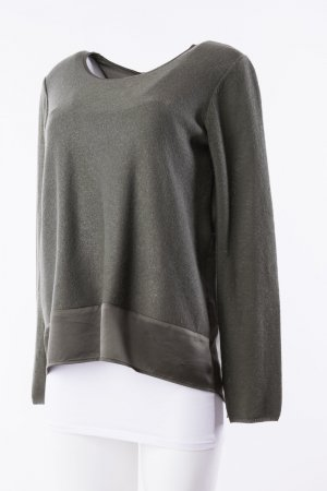 MARC AUREL - Pullover Seide Oversized Khaki