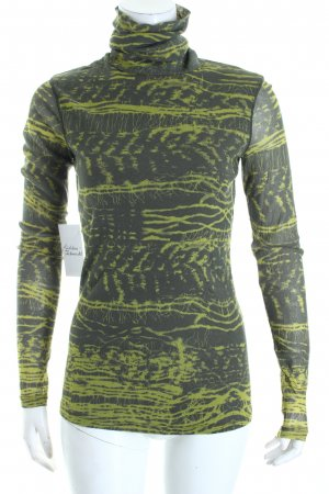 Marc Aurel Turtleneck Shirt green grey-lime-green abstract pattern casual look