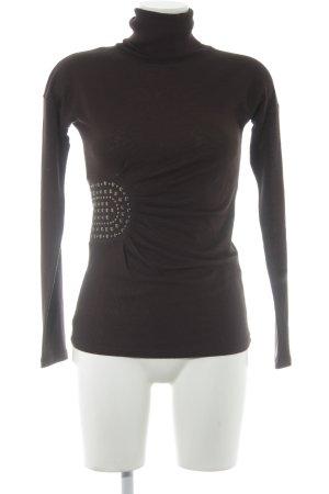 Marc Aurel Turtleneck Shirt black brown casual look