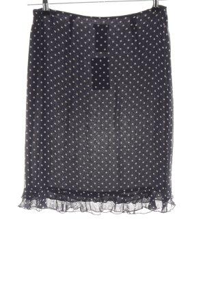 Marc Aurel Silk Skirt black-cream spot pattern business style