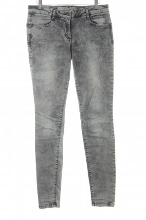 Marc Aurel Slim Jeans anthrazit-hellgrau Biker-Look