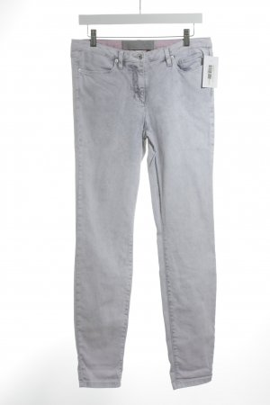 Marc Aurel Slim Jeans hellgrau-rosa Casual-Look