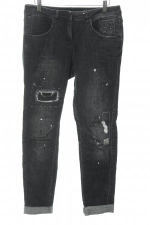 Marc Aurel Slim Jeans schwarz Used-Optik