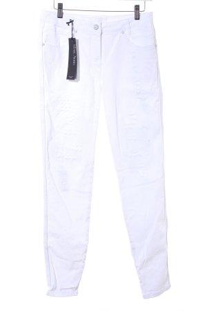 Marc Aurel Slim Jeans weiß Casual-Look