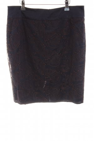 Marc Aurel Lace Skirt black-brown graphic pattern elegant