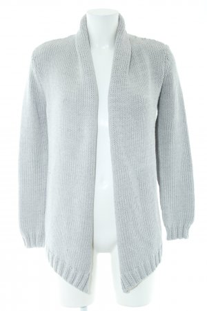 Marc Aurel Strick Cardigan hellgrau Zopfmuster Casual-Look
