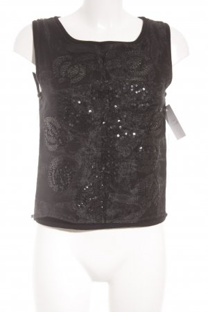 Marc Aurel Knitted Top black glittery