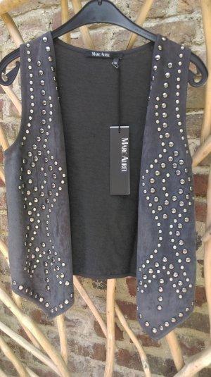 Marc Aurel Gilet tricoté gris foncé tissu mixte