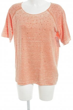 Marc Aurel T-Shirt orange-apricot meliert Casual-Look
