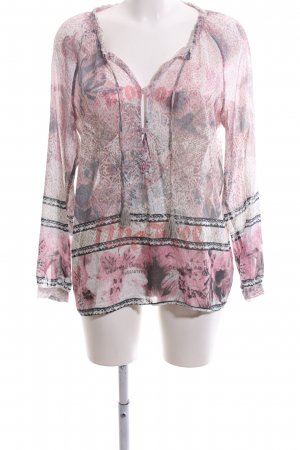 Marc Aurel Transparenz-Bluse Mustermix Casual-Look