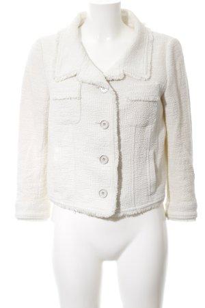 Marc Aurel Tweed Blazer cream weave pattern business style