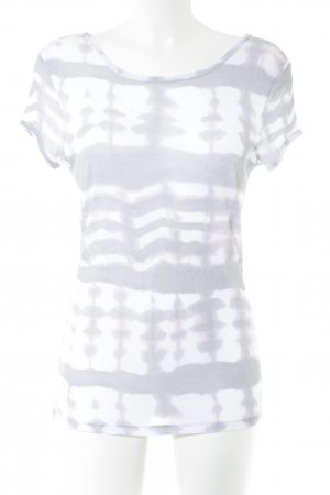 Marc Aurel Boatneck Shirt white-light grey abstract pattern casual look