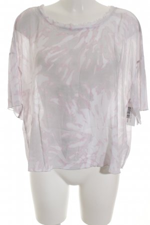 Marc Aurel Boatneck Shirt light grey-dusky pink floral pattern romantic style
