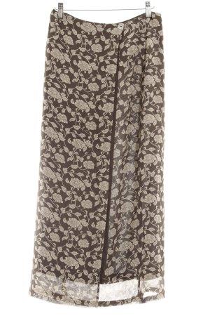 Marc Aurel Falda cruzada gris verdoso-beige estampado floral elegante