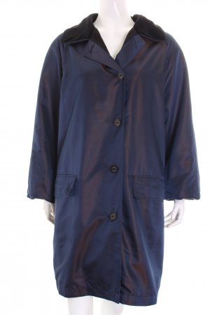 Marc Aurel Winter Jacket black-steel blue wet-look