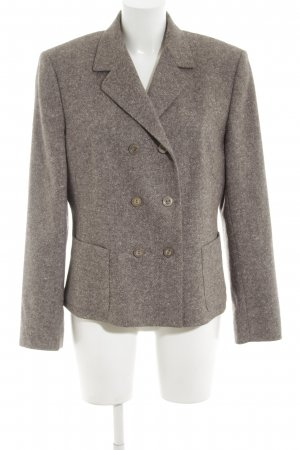 Marc Aurel Woll-Blazer braun meliert Business-Look
