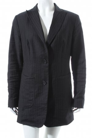 Marc Aurel Wool Blazer dark blue-natural white pinstripe business style