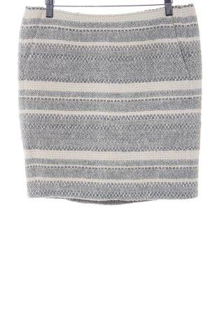 Marc Aurel Gonna di lana grigio chiaro-bianco sporco motivo a righe stile casual