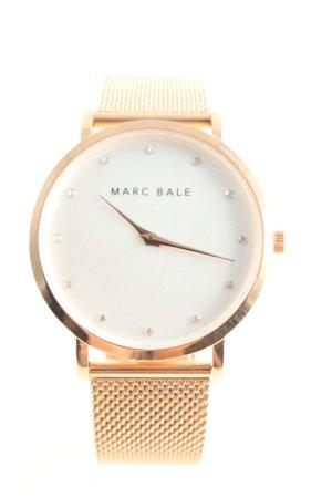 Marc Bale Horloge met metalen riempje goud Oranje elegant