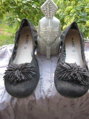 Ballerines noir cuir