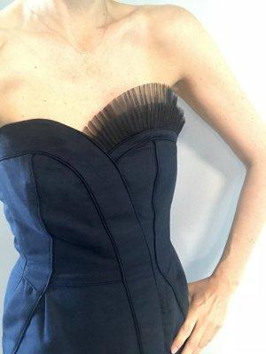 MARC by MARC JACOBS Abendkleid dunkelblau mit Tüll am Dekolleté