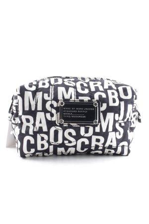 Marc by Marc Jacobs Borsellino nero-bianco caratteri stampati stile stravagante