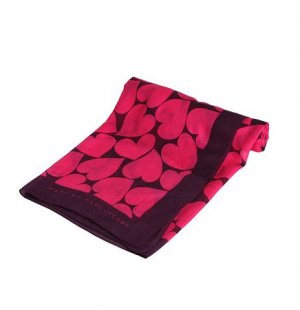 Marc by Marc Jacobs Big Hearted Silk-Cashmere Scarf