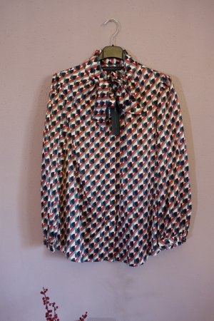 Marc by Marc Jacobs Blusa collo a cravatta multicolore Tessuto misto