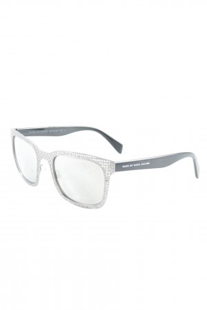 Marc by Marc Jacobs Brille silberfarben-schwarz Street-Fashion-Look