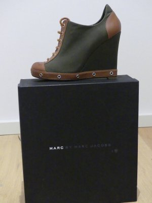 MARC by MARC JACOBS Canvas Military Wedge Schnürer Ankle Boots Gr. 36,5
