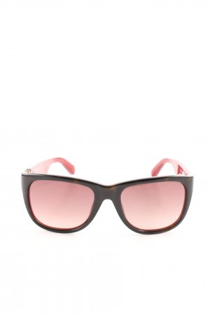 Marc by Marc Jacobs eckige Sonnenbrille rot-braun Casual-Look