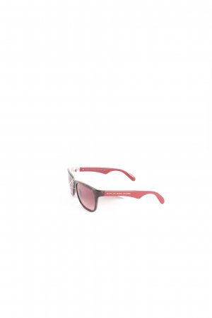 Marc by Marc Jacobs Angular Shaped Sunglasses dark brown-dark red classic style