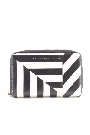 Marc by Marc Jacobs Wallet black-white striped pattern casual look
