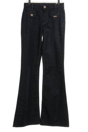 Marc by Marc Jacobs Jeans flare bleu foncé-noir moucheté style décontracté