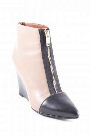 Marc by Marc Jacobs Keil-Stiefeletten schwarz-nude Business-Look