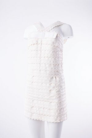 Marc by Marc Jacobs - Kleid Weiß Joelle Scalloped (White Dress Gossip Girl)