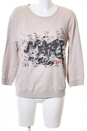 Marc by Marc Jacobs Short Sleeve Sweater pink-black themed print casual look