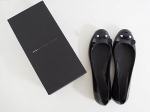 MARC BY MARC JACOBS Mouse Jelly Flats Ballerinas Schwarz Gr.40 NEU