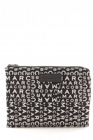 Marc by Marc Jacobs Notebooktasche schwarz-weiß Monogram-Muster