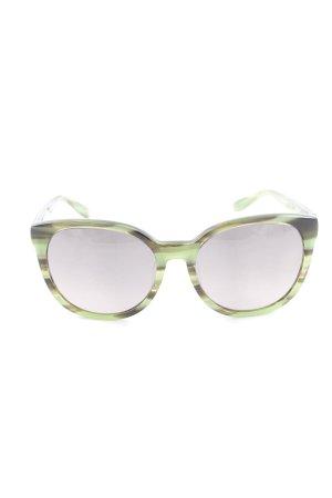 Marc by Marc Jacobs Ovale zonnebril donkerbruin-grasgroen gestreept patroon